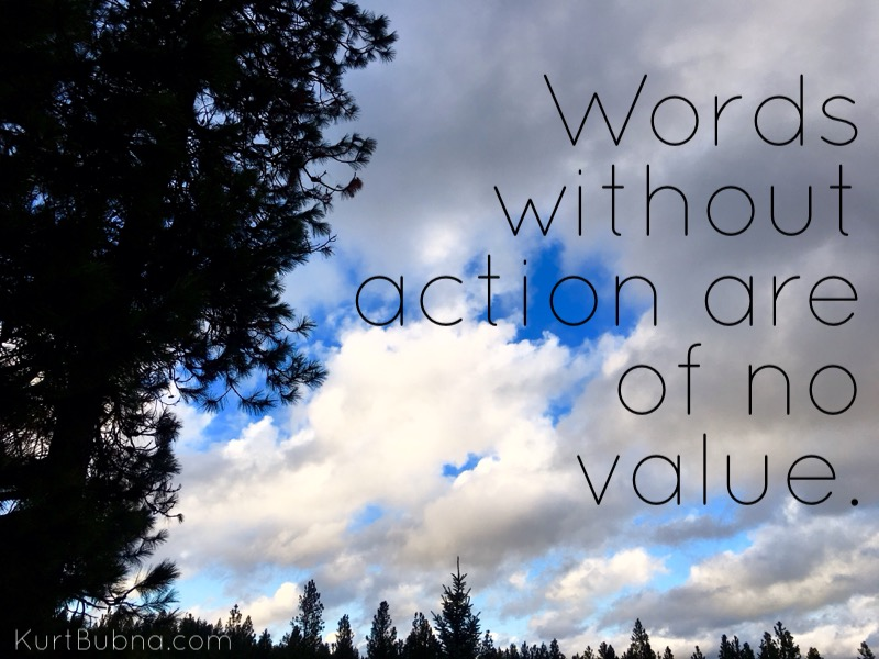Words Without Action