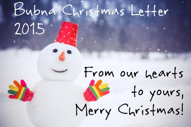 Christmas Letter 1